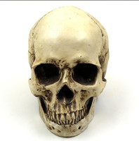 Wholesale Xmas Decoration Items - Hot Item 3D Skull Pattern Resin Home Party Bar Xmas Halloween Day Decoration Tricky Spoof Christmas Gift Inddor Outdoor Supplies