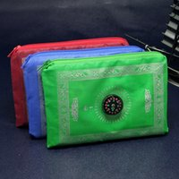 Wholesale islamic travel pocket prayer mat with compass muslim prayer rug mix colors foldable size cm ZD092C