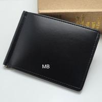 carteras de cuero genuino corto de los hombres al por mayor-Lujo europeo popular el nuevo negocio de la moda MB billetera Hot Leather Men Wallet Short billfol Cuero genuino MB billetera.