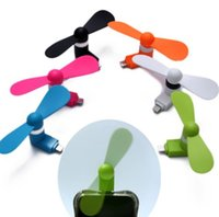 Wholesale Wholesale Cheapest Phone - 10PCS LOT Newest Cheapest USB Mini Micro USB Fan Portable 5Pin Flexible Fan For Android Phone With Package