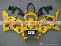 Wholesale Honda Cbr954rr Fairings - 3 Gifts New ABS Fairings set For HONDA CBR954RR CBR900RR 02 03 CBR CBR900 900RR 954 954RR CBR954 RR 2002 2003 Cool yellow white 53