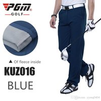 Wholesale Thick Waterproof Trousers - 2016 new autumn and winter Golf Wear men's fashion thick fleece warm golf pants high quality waterproof Golf trousers 3colors XXS-3XL