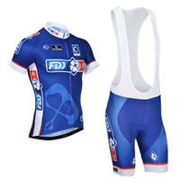 Wholesale Cycling Wear Bib - FDJ cycling jersey pro bicycle wear cycling wear lycra cycling jersey quick-dry shirt cycling bibs set