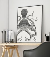 Wholesale Octopus Canvas - Octopus Canvas Art Print Poster, Wall Pictures for Home Decoration, Wall Decor