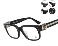 Wholesale Eyeglasses Frame Male - Brand Glasses-Chromehearts Unisex Retro Crystal Transparent glasses Reading spectacles Frame Designer chrome Eyeglass Eyewear myopia glasses