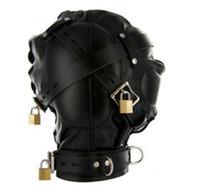 pompes à ventouse achat en gros de-Dépréciation sensorielle Hotte de Gimp Mask avec les yeux bandés Fétiche Bondage Jeu de rôle Présentation # R172