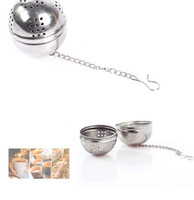 Wholesale small links online - Small and creative stainless steel tea ball can be linked to tea filter tea leakage hot pot seasoning ball A0274