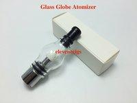atomizador globo de vidrio pyrex al por mayor-El tanque de vidrio de cristal de pyrex del atomizador del globo con el vaporizador de cerámica de la bobina de la cera Clearomizer atomizador del vidrio de la cera para 510 eGo la batería