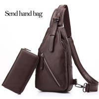 Wholesale Men S Cross Bags - Men 's shoulder Messenger Bag small chest male Korean version of the pockets of outdoor sports and leisure riding backpack men chest package