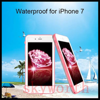 Wholesale Wholesale Black Diamond Screen - For iphone 7 Plus 7plus Waterproof Shockproof Water Snow Proof Diamond Case Full Body Screen Protector
