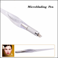 Wholesale Tattoo Pen Holder - 10pcs Microblading tebori Pen PCD Microblade Needle Holder eyebrow Permanent Makeup Manual Tattoo Pen Lightweight Blade Hand piece