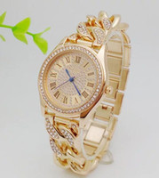 Wholesale Ladies Wristwatches Silicone - M brand Diamond lady wristwatches Luxury women quartz watch Famous stainless steel japan movement rose gold watch Relogio Masculino Hot