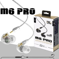 Wholesale Detachable Iphone - Audio MEE M6 PRO Earphone Universal for iPhone Samsung Noise Canceling 3.5mm HiFi In-Ear Monitors Detachable Cable Monitor Headphone
