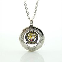 Wholesale Silver Tiger Necklaces - Casual animal picture locket necklace Richmond tigers football team Souvenirs jewelry gift accessory for men and boys NF068