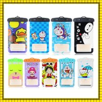 Wholesale Dry Shipping Bags - 2016 Universal Cartoon waterproof case for samsung galaxy s7 s6 Iphone 5 6 6S Plus,Cell Phone Dry waterproof phone bag free shipping