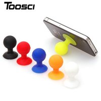 Wholesale Suction Ball Stand For Iphone - Silicone Ball Octopus Spherical shape Suction Cup Bracket Cell Phone Holder Stand for iphone stand Free Shipping