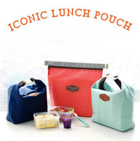 outdoor picnic food - Outdoor Lunch Bag Picnic bag Iconic Lunch Pouch Carry Tote Container Warmer Cooler Bag Nylon Storage Bags OOA375