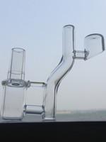 Wholesale Flow Clear - quartz banger drop down nail 4mm or 2mm thick Clear Joint Real Quartz High Air Flow