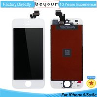 Wholesale Iphone White Parts - LCD Screen For iPhone 5 5S Display Touch Digitizer with Frame Assembly Replacement AAA Quality Repair Parts Black White