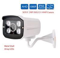 Wholesale ntsc cctv camera - SONY IMX323 2MP AHD Analog security Camera Full 1080P AHD-H CCTV Camera Surveillance Outdoor IR 4pcs Array LEDs for AHD DVR