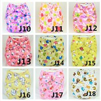Wholesale Wholesale Diaper Kid - 2016 baby cartoon diapers 18 colors cheap kids cotton diapers new boys and girls waterproof diaper pocket in stock 20pcs