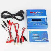 Wholesale Rc Battery Balance Charger - 80W iMAX B6AC B6 AC Dual Power LCD Control Digital Lipo Lipro NiMH 3S 4S 5S RC Battery Balance Charger Batteries Discharger EU AU US UK PLUG