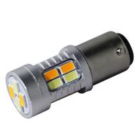 Wholesale Smd Led Dual Color - 1157 BAY15D Dual Color Switchback 20 SMD Hot Models 5730 LED 3157 7443 Daytime Running Lights Turn Lights China Supply