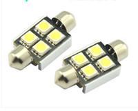 Wholesale Canbus 36mm 4smd - 100PCS canbus 12V 36mm 4SMD 5050 LED Car Auto Light Bulbs LED Festoon Light wholesale price