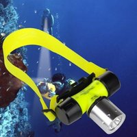 Alta qualidade Subaquática CREE XML T6 Headlamp LED Waterproof 20M Swimming Diving Headlight Dive Scuba Head Light Torch Lamp