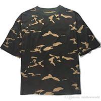 Wholesale Nylon Tee Shirts - men's T Shirt Kanye West Extended T-Shirt Men's clothing Curved Hem Long line Tops Tees Hip Hop Urban Blank Justin Bieber Shirts T