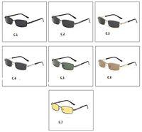 yeni güvenlik gözlükleri toptan satış-Profesyonel üretim! Yeni 7 renk moda Polarize Gözlük UV400 eğlence spor sürüş Balıkçılık koruma Güneş Gözlüğü metal çerçeve güvenliği