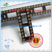 Wholesale Ic Sockets Pin - Wholesale-Free shipping .20P hole IC DIP20 pin IC socket hole Block Block 14   24 a gold-plated socket hole
