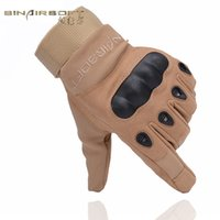 Barato Luvas Tático-Sinairsoft Outdoor Climbing Gloves Sport Riding Hiking Camping Tactical Men's Full luvas
