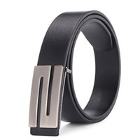 Wholesale Male Cowhide Belt - 100% cowhide genuine leather belts for men Strap male Smooth buckle vintage jeans cowboy Casual designer brand belt