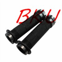 "Wholesale Scooter Hand Grips - 7 8"" 22mm Rubber aluminum Gray motorcycle Grips Scooter Hand Grips handle bar scooter handle bar"