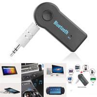 ingrosso adattatore per altoparlanti bluetooth per audio-DHL Universal 3.5mm Car Audio Bluetooth Receiver Adapter Auto AUX Streaming A2DP Kit per cuffie altoparlante