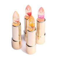 Wholesale color changing flowers - Kailijumei Flower Long Lasting Magic Color Temperature Change Moisturizer Lips Care Balm Batom Flowers lipstick lip gloss 4 color