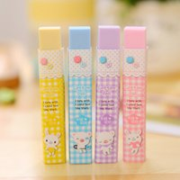 >6 years old blue cube promotional - Cube Pencial Kawaii Eraser Cute School Supplies Stationery Erasers Correction Products Rubber For Children Gift