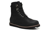 Wholesale Snowboots Men - Men waxed leather snowboots Sturdy top grade leather Martin boots soft warm wool paded in 1pc succeed 2pc