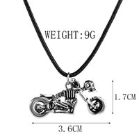 Wholesale Necklace Lay - Two skeletons make love embrace hugging Tummy Lying down Skeleton riding a motorcycle necklace Human skeleton pendant Skull necklace x279