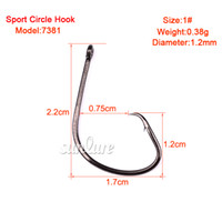 Carbon Steel black bass fish - 100pc Fishing Hooks Black Color Octopus Circle Sport Circle Fish Hook Jig Big Size Bass