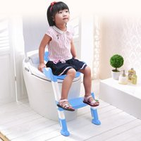 Wholesale Toilet Seat Chair - Baby Foldable Toddler Potty Training Toilet Ladder Seat Steps Protable Safety Chair  Children Toilet Ladder Chair VT0254