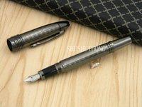 new metal gift school Gun black classic Cap Medium Nib Fountain Pen