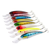 Wholesale 17cm hard lures - 8 color cm g Hard Plastic Lures Fishing Hooks Fishhooks D Minnow Fishing Baits Hook Artificial Lure Pesca Tackle Accessories