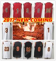 Nombres De Moda Baratos-2017 18 NUEVO CAVS con nombre Thomas cosido Swingman HOT JAMES FASHION Love jerseys al por mayor Rose Sport Jersey Wade