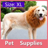 Wholesale Lion Winter Hat - 4Size Pet Dog Cat Lion Wigs Mane Hair Festival Party Fancy Dress Clothes Costume Halloween Costume