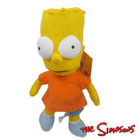 "Wholesale Bart Simpson Doll - Free Shipping Anime Cartoon The Simpsons Bart Simpson Plush Toys Soft Stuffed Dolls 12"" 30cm Christmas Baby Gift MK92 1230#30"