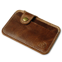 Wholesale luxury pouch bags wallet purse for sale - wallet men luxury brand wallets brown Slim Mini Wallet ID Case Purse Bag Pouch visiting card holder hot sale