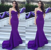 Wholesale Evening Dress Cheaper - Evening Dresses 2017 Elegant Mermaid Formal Party Wear Sweetheart Sleeveless Long Prom Gown Bridal Party Dress Cheaper