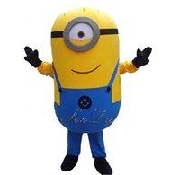 Wholesale Despicable Customs - Wholesale-2016 New Arrival Custom Despicable me minion mascot costume made Despicable me 2 cartoon mascot costumes